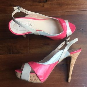 Guess Shoes - Guess Ruby Stiletto High Heel Peep Toe Shoes